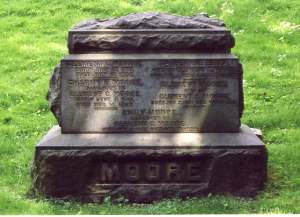 Clement Clarke Moore's gave site in Trinity Cemetery