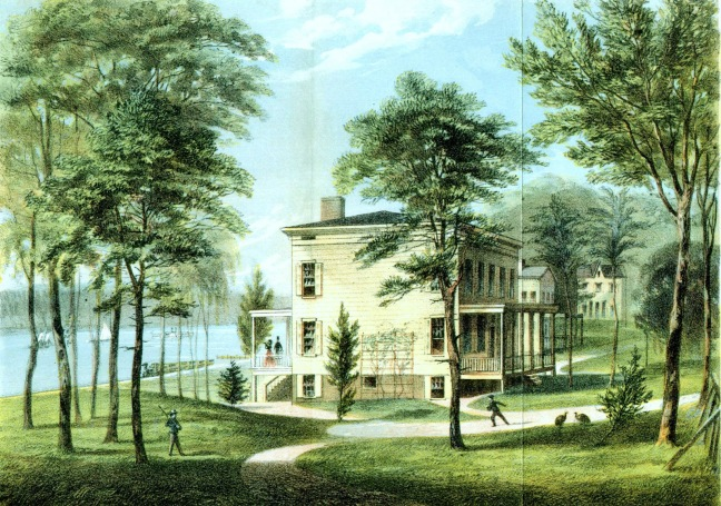 Romanticized View of Audubon's House circa 1852