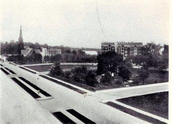 Long-distance shot of Audubon Park from the Northeast 1908