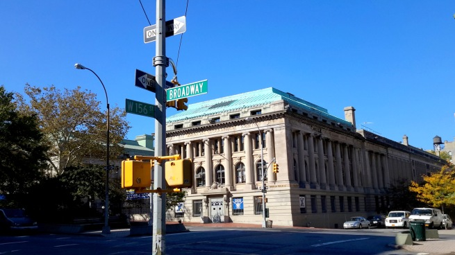 Intersection of Broadway and 156th Street in 2015