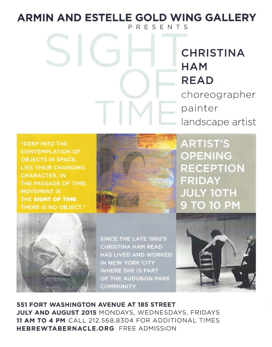 SIGHT OF TIME Art FLyer