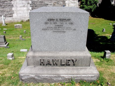 The Hawley Gravestone in the Westely Division of Trinity Cemetery