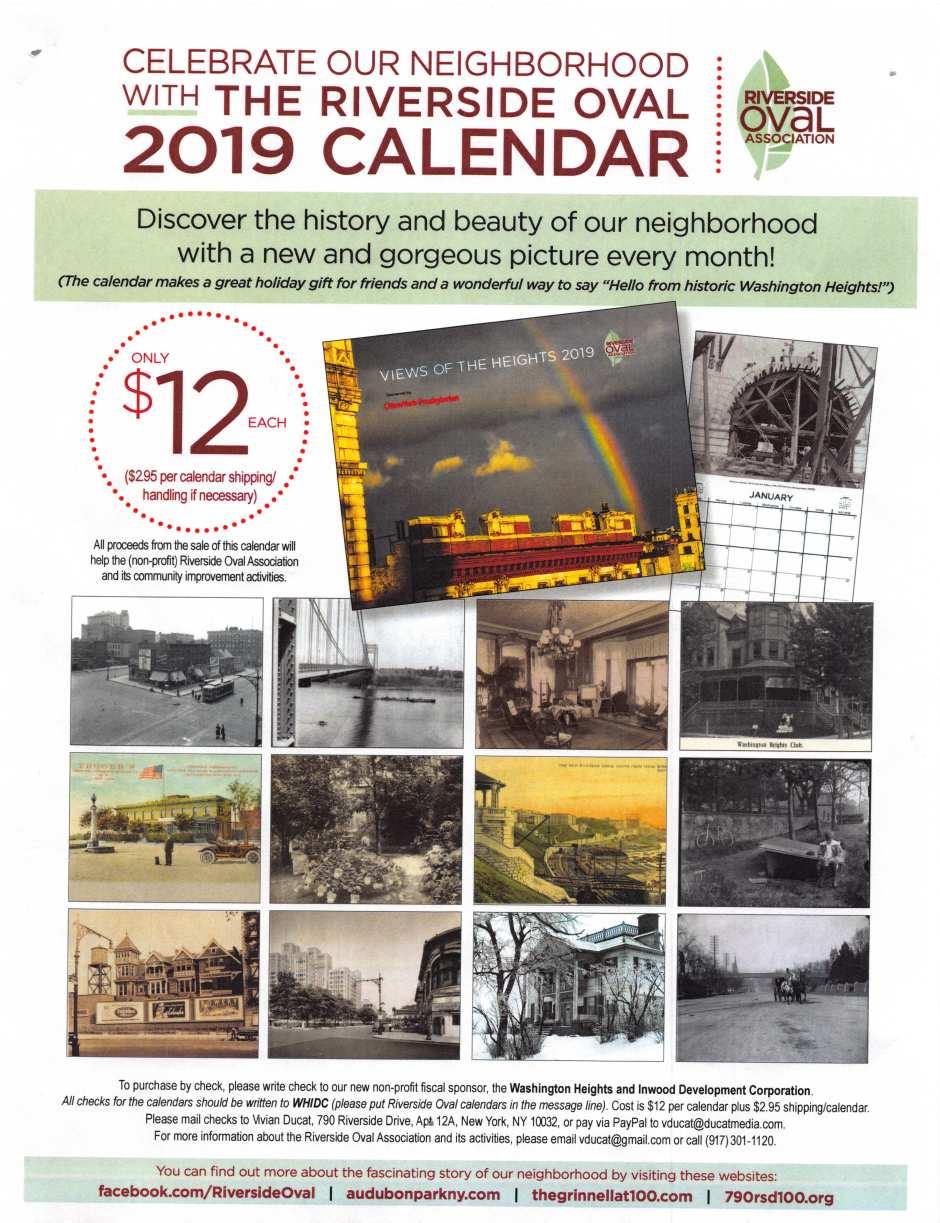 2019 Oval Calendar